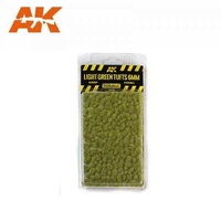 AK-8118 	Light Green Tufts 6mm