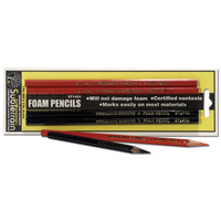 Foam Pencils 2xRed and 2xBlack wds-st1431