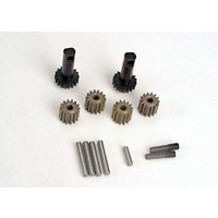 2382 Traxxas Planet gears (4)/ planet shafts (4)/ sun gears (2)/sun gear alignment shaft (1) all hardened steel