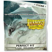 AT13101	Sleeves - Dragon Shield - Perfect Fit SIDELOADER 100/pack Clear