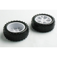 RH-10300 1/10 Front Buggy Tyre Set 12mm Hex Spirit (White)