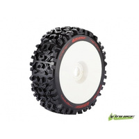 B-Pioneer 1/8 Buggy Tyre Soft White Rim - L-T3130SW