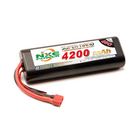 NXE4200HCR402SDEANS - NXE 7.4v 4200mah 40c Round Hard Case Deans