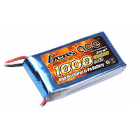 Gens Ace 1000mah 25c 7.4v Soft Case Battery (JST) GA2S-1000-25C-S