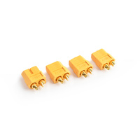 TRC-0105F - Tornado XT-60 Plug Female (Female bullet with male housing) 4pcs/bag