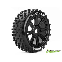 Louise B-Rock 1/8 Buggy Tyre BLK/Spoke Mounted Pair LT3270B