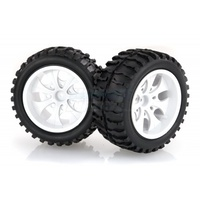 "HSP-08010C HSP 2.8"" Off-Road Tyres on White Rims - Wheels 2Pcs"