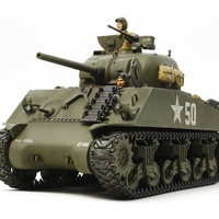 1/35  Tamiya US MEDIUM TANK M4A3 SHERMAN w/Single Motor